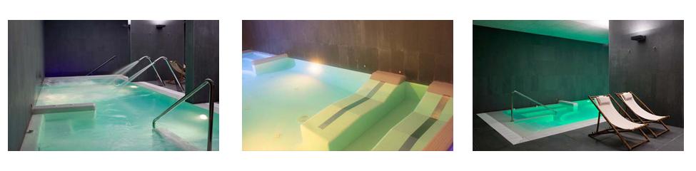 vive una experiencia de relax unica en Finca de Los Arandinos spa piscina dinamica sauna finlandesa ducha ciclonica pediluvio baño turco piscina fria