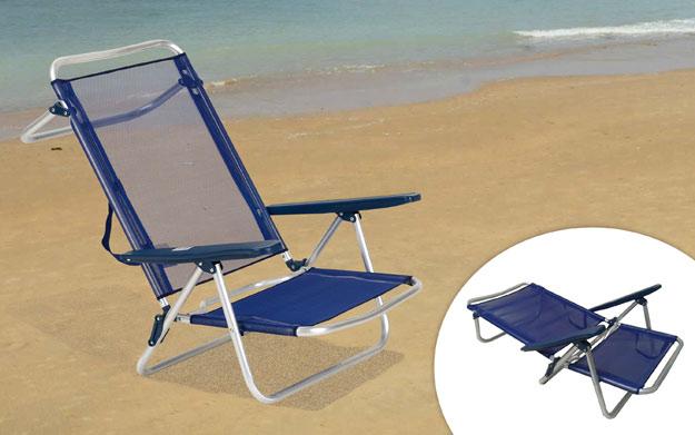 Silla de playa reclinable for Oferta sillas plegables
