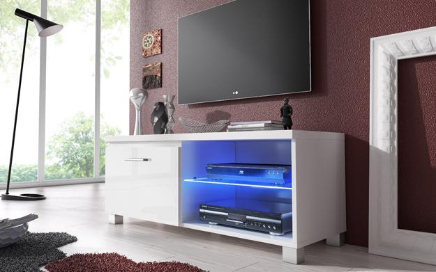 Mueble de televisi n con luces led descuento 60 99 for Mueble tv 100 cm