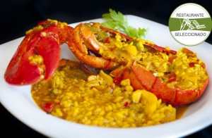 Exquisito arroz con bogavante en Gros