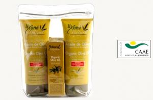 Neceser de 3 productos de aceite de oliva ecológico Lixoné