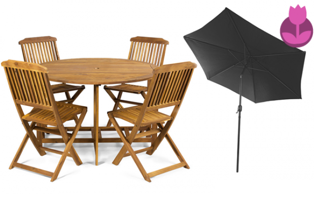 Conjunto mesa y sillas para jard n plegables descuento for Ofertas mesas y sillas de jardin