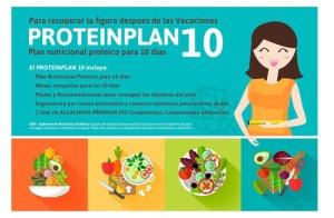 Plan nutricional proteico para 10 días