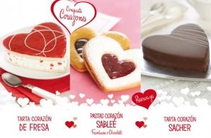 Tarta y galletitas de San Valentín